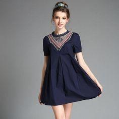 Women Plus Size Dress Vestidos Beads Fringe Cotton Summer Dresses s-5xl