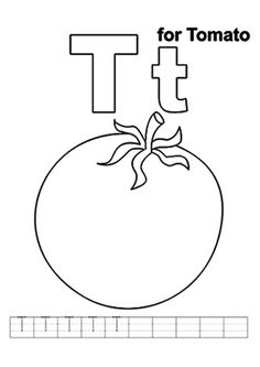 abc coloring sheet letter t is for tree coloring book