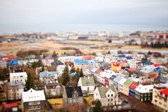 kristina's beautiful tilt-shift photos of iceland from above