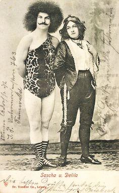 Sascha and Delila , sideshow performers 1905