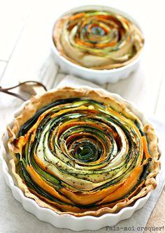 La tarte Fleur {Spirales de Courgettes et Carottes} - Fais moi croquer !