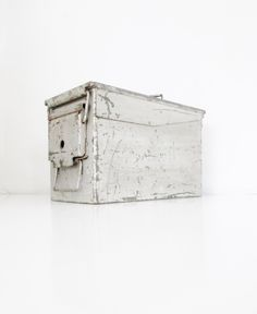 Industrial Metal Box Vintage Ammunition Box Military Box Metal Bin Industrial Storage Container Utility Box Tool Box Urban Industrial Decor by TheDustyOldShack on Etsy