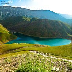 Taar Lake - Damavand - Mazandaran Province, Iran (Persian: دریاچه تار یکی از جاذبههای نمونه توریستی منطقه دماوند بهشمار میرود. این دریاچه در شمال شهر دماوند و در اثر یک زمین لغزش باستانی ایجاد گردیدهاست.) Photo by Armin Arjmandian (Panoramio)