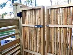 Cut and dried this bamboo and made a gate for this deck. Torcasso Brothers in Raleigh, NC: torcassobrothers@yahoo.com