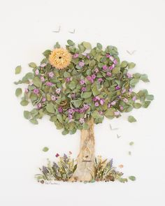 """""""The Giving Tree"""" Flower Print - Sister Golden Art Floral, Unique Flowers, Top Flowers, Flowers Garden, Real Flowers, Dried Flowers, Flower Pot Design, The Giving Tree, Night Flowers"""