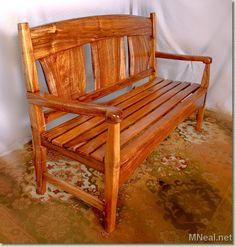 beautiful koa wood bench...