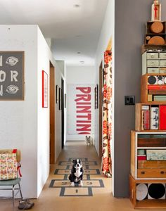 Hopscotch!  Use beanbags indoors instead of rocks. via Content in a Cottage via Must Love Dogs