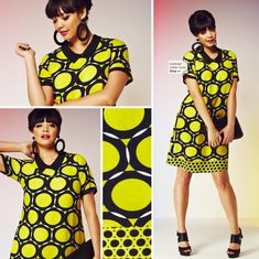 Stand out from the crowd in this Marni inspired geometric print dress.