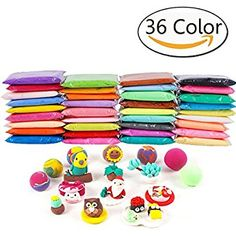 Anyumocz 36 Colors Air Dry Clay Moulding Craft Clay - Clay Set for Kids with Tools, Diy Clay, Clay Crafts, Clay Set, Clay Tools, Thing 1, How To Make Slime, Craft Free, Air Dry Clay, So Little Time