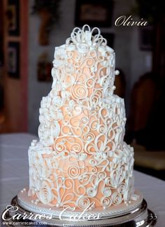 A collection of beautiful cake & cupcake pictures to be inspired by. Enjoy the various elegant, colourful and creative cake designs and try one yourself. Amazing Wedding Cakes, Elegant Wedding Cakes, Elegant Cakes, Wedding Cake Designs, Amazing Cakes, Wedding Ideas, Cupcakes, Cupcake Cakes, Gorgeous Cakes