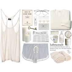'Dream a little dream of me' by ctodtims on Polyvore featuring Madewell, Eberjey, Wildfox, Le Labo, H2O+, Barefoot Dreams, H&M, Cheap Monday and Conair