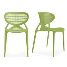 Silla de Polipropileno (verde). Decora tu casa u oficina con estas sillas de alta calidad, con un diseño elegante y único.