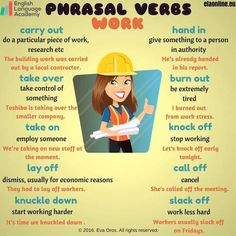 Forum | ________ English Grammar | Fluent LandPhrasal Verbs with WORK | Fluent Land