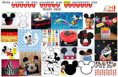 Inspired in Mickey Mouse: Free Party Printables in Red and Black ...
