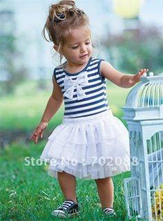 Stripe dress Ball Gown girl dress