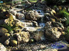 Waterfall created by WaterScape in Saline, MI. #WaterfallWednesday