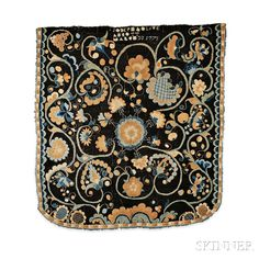 """Wool Bed Rug """"Joseph and Olive Abbott,"""" Connecticut River Valley, dated March 1775 Wool Quilts, Applique Quilts, Wool Rug, Bed Rug, Whole Cloth Quilts, Antique Beds, Rug Inspiration, Hand Hooked Rugs, Braided Rugs"""