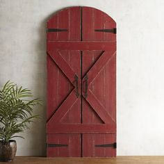 Pier 1 Imports Barn Doors Wall Decor ($169) ❤ liked on Polyvore featuring home, home decor, red, pier 1 imports, red home decor, handmade home decor and red home accessories