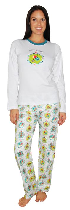 PajamaMania Whimsical White Flannel Pajama Set Pajama Set, Pajama Pants, Flannel Pajamas, Whimsical, Fashion, Moda, Sleep Pants, Fashion Styles, Fashion Illustrations