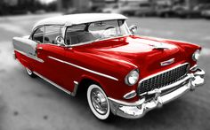 1955 Chevy Bel Air Red Finish