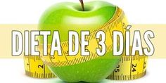 ¿como bajar de peso en 3 dias ? Dieta de 3 dias solo. Menu Dieta, Apple, Fruit, Health, Food, Gym, Weight Loss Diets, Loosing Weight, Vegetable Salads