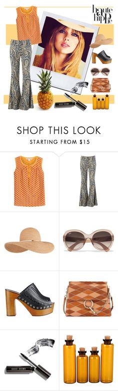 """Haute hippie"" by fashiondeluxe ❤ liked on Polyvore featuring Haute Hippie, Diane Von Furstenberg, Free People, Eugenia Kim, Ray-Ban, Sigerson Morrison, Chloé, Bobbi Brown Cosmetics, GetTheLook and hattrend"