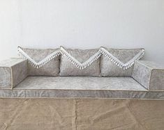 Floor seating couch x 1 70 10 CM ) x x Attractive Pattern and Color. The products have a zipper and can be easily removed and washed. Floor Seating Cushions, Cushions On Sofa, Living Room Sofa, Living Room Furniture, Floor Couch, Bohemian Furniture, Handmade Home, Sofa Set, Decoration