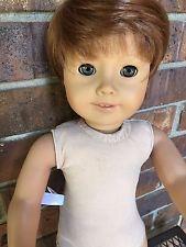 """American girl 18""""custom boy/girl doll soft ginger hair green eyes #21"""