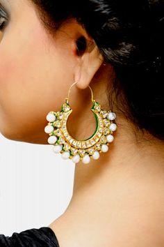 Trousseau Pearl Bali Earrings - Jewellery www.scarletbindi.com