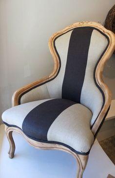 Bold stripe. Armchair