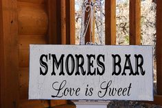 SMORES BAR Signs Wedding Signs SELF Standing 12x5 by familyattic, $21.95