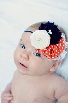 Baby Girl Headband  Baby Headband  Vintage by LittlePearlBoutique, $16.00