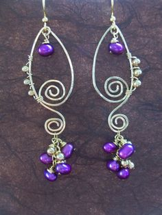 14K Gold Filled Wirewrapped Purple by beadifulexpressions on Etsy, $32.00