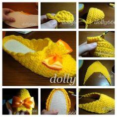 Wonderful DIY Pretty Crochet Slippers