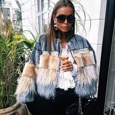 Dope Fashion, Womens Fashion, Cute Jackets, Fur Jacket, Street Style Women, Autumn Winter Fashion, Mantel, Winter Outfits, Creations