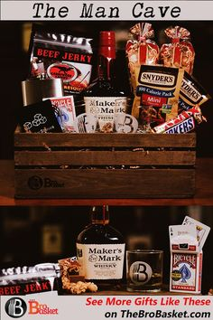 The most amazing gift baskets for men that feature their favorite beer, wine, or spirits. Gift baskets for guys delivered to their door as soon as tomorrow! Christmas Gifts For Boyfriend, Gifts For Your Boyfriend, Best Gifts For Men, Liquor Gift Baskets, Gift Baskets For Men, Fundraiser Baskets, Raffle Baskets, Beer Basket, Diy Xmas Gifts
