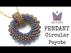 Beading Ideas - How to Stitch a Peyote Circular Pendant with Miyuki - YouTube