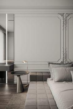 Modern Luxury Bedroom, Master Bedroom Interior, Bedroom Closet Design, Luxurious Bedrooms, Classic Interior, Modern Interior Design, Contemporary Interior, Classic Living Room, Bedroom Classic