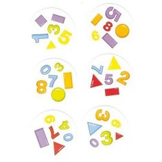 DOBBLE CHIFFRES ET FORMES Bingo Games, Math Games, Math Activities, Shape Matching, Matching Games, Sudoku, Shape Games, Free Puppies, Learning Shapes