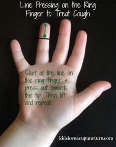 Line Pressing on the Ring Finger Treats Cough