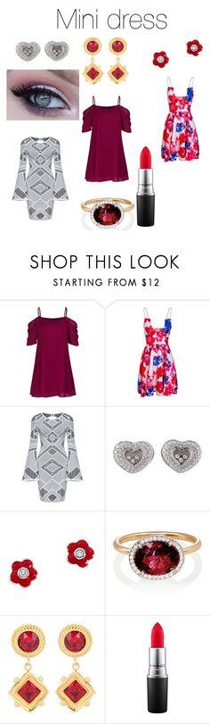 """Mini dress"" by audjvoss ❤ liked on Polyvore featuring Chopard, Aaron Basha, Irene Neuwirth, Dolce&Gabbana and MAC Cosmetics"