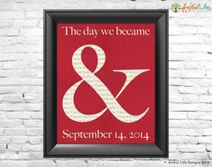 Personalized Gift for Couples Wedding, Anniversary, Housewarming by Artful Life Designs