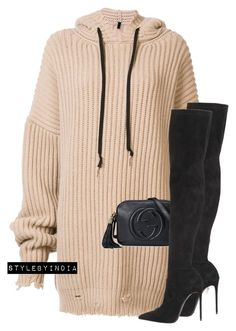 """Untitled #1707"" by stylebyindia ❤ liked on Polyvore featuring Unravel, Gucci and Le Silla"