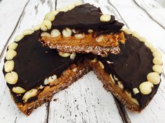 clean eating snickers cake 1