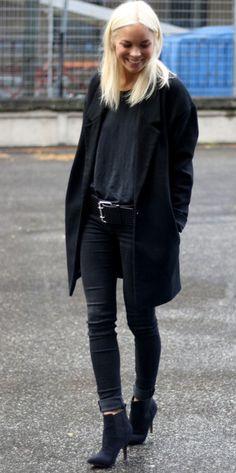 victoria tornegren. white hair on black clothing. Stylin