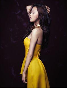 Heo Ga-yoon for Arena magazine (March Yellow Fashion, Pop Fashion, Asian Woman, Asian Girl, Girl Bands, Beautiful Asian Women, Girl Costumes, Korean Girl Groups, Kpop Girls