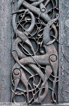 At Urnes Stave Church, Norway, Viking Age animal art meets Christian architecture.