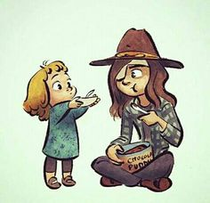 Carl and Judith - The Walking Dead
