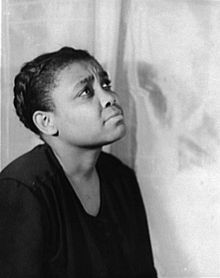 Ruby Elzy in 1935. Photo by Carl Van Vechten. Ruby Elzy (February 20, 1908 – June 26, 1943), was a pioneer American operatic soprano. Elzy entertained at the White House, December 15, 1937, for First Lady Eleanor Roosevelt's luncheon for the wives of U.S. Supreme Court Justices. She appeared on Broadway in the musical John Henry, in films, on radio and on the concert stage. She appeared with Paul Robeson in the film of The Emperor Jones, and also with Bing Crosby....