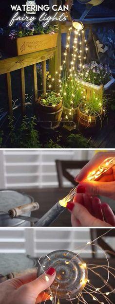Watering Can Fairy Lights | DIY Garden Lighting Ideas | DIY Backyard Lighting Ideas on a Budget